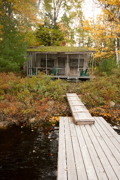 Gillette Cabin view of cabin from dock
