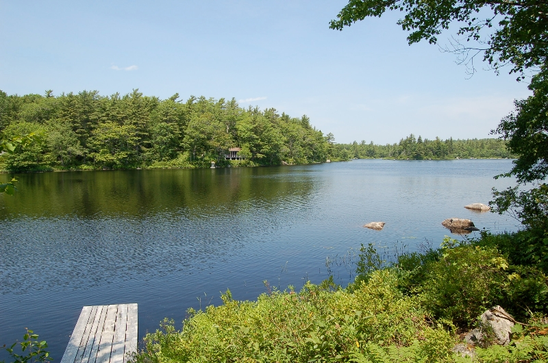 Gillette Cabin View of lake